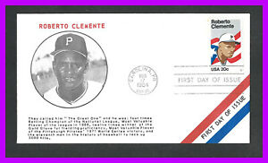 ROBERTO CLEMENTE: 1984 first day cover, Carolina, PR - red, white, blue