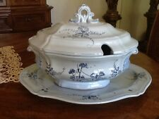 Vintage Hand Painted Artist Numbered  Porcelain Soup Tureen: Made in Italy