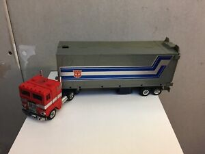 Transformers G1 1985 OPTIMUS PRIME cab figure + trailer ceji FRANCE