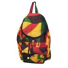 "Burlap Reggae Cool Runnings Drawstring Backpack Bag Hippie Surfer Marley 15"""