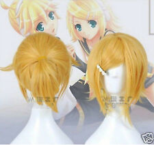 NEW Vocaloid wig Kagamine Rin&Kagamine Len Blonde cosplay hair wig B667