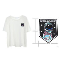 Embroidery sew iron on patch astronaut badge transfers cloth fabric applique+j