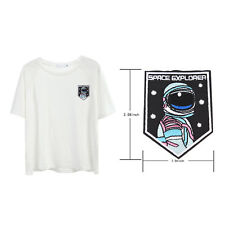 Embroidery sew iron on patch astronaut badge transfers cloth fabric applique LJ