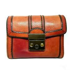 Fossil Women's multifunction Leather Wallet Vintage Style Red
