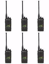 6 Motorola RDX RDU4160d UHF Two-Way Radios. Free radio + prepaid card!