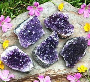 Amethyst Quartz Crystal Clusters - Natural Raw Mineral Druzy Healing 81g - 120g