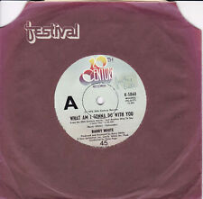 BARRY WHITE What Am I Gonna Do With You / What Am I Gonna Do With You Baby 45