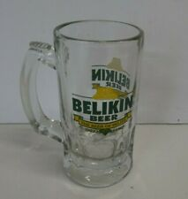 Belikin  Beer Glass Mug The Beer of Belize Heavy Thick Glass STEIN COLLECTIBLE