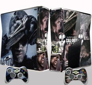 Xbox 360 Slim Console Skin Sticker Call of Duty Black Ghost Vinyl Decal Sticker