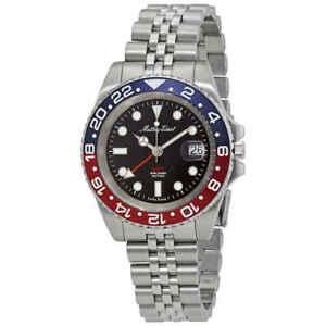 Mathey-Tissot Mathy Vintage GMT Black Dial Pepsi Bezel Men's Watch H903AR