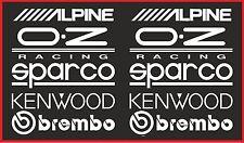 10 X RACING STICKERS WHITE Window Bumper Vinyl Sticker JDM Sponsor Decals