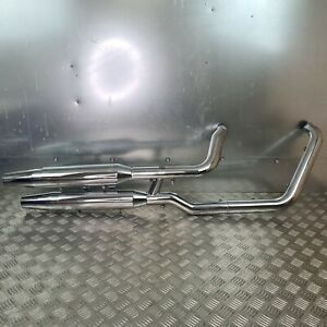 Harley-Davidson Softail Fat Boy Full Exhaust Silencers Down Pipe End Cans
