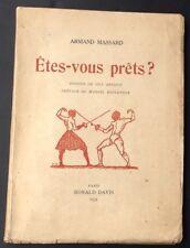 ESCRIME 1931 A.Massard ÊTES-VOUS PRÊTS? illustré par GUY ARNOUX EO numérotée
