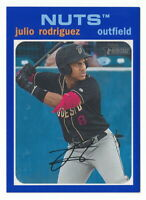 JULIO RODRIGUEZ 2020 TOPPS HERITAGE MINORS BLUE BORDER PARALLEL #68/99 MARINERS