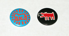 Keith Haring Vintage Pins Buttons 1986 Pop Shop NYC