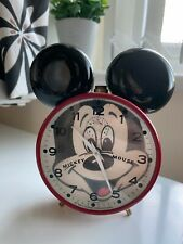 More details for vintage mickey mouse wind up clock - bradley west germany 1980's - walt disney