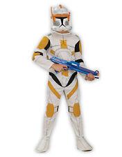 "Star Wars Kid Clone Wars Trooper Cody Costume S1, L,Age 8-10,HEIGHT 4' 8"" - 5'"