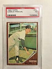 1962 Topps # 230 Camilo Pascual PSA NM 7