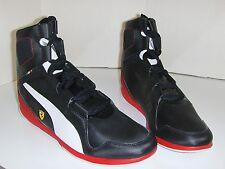 Puma-Ferrari Scuderian Mens Black Hi-Top Shoe Brand New Size US 12 (D3,1)