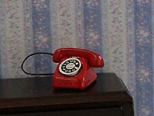 Casa de muñecas en miniatura escala 1:12th Teléfono Rojo