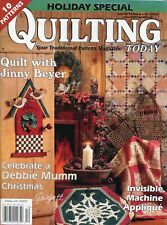 Quilting Today No. 93 Holiday Special 2002 ~ 10 quilt sewing patterns