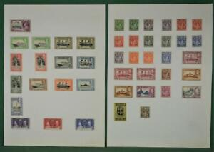 ST. LUCIA STAMPS SELECTION ON 2 ALBUM PAGES H/M  (F80)