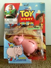 Toy Story 1995 Hamm with Auto-Deposit Action Figure New on Sealed Card