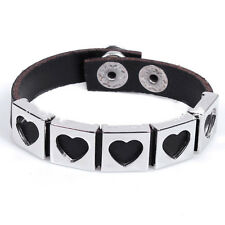 Jewelry Fashion Leather Wristband Bracelet with snap-fasterners  for ladies