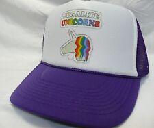 18aa0fe3d727e Unicorns Trucker Hat mesh Hat Snap Back Hat purple one size fits most