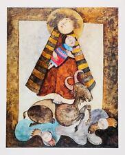 "Adoration du Belier Vintage Lithograph artist Graciela Rodo Boulanger 16"" x 20"""