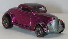 Redline Hotwheels Magenta 1969 36 Ford Coupe