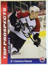 Colorado Avalanche Cameron Gaunce Signed 10/11 Top Pros Lake Erie Monsters Card