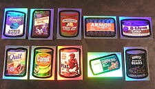 2007 Topps Wacky Packages Series 6 ANS6 RAINBOW FOIL sub-SET OF 10 nm+