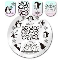 BORN PRETTY Nagel Stamping Platte Schablone Template Plates Pinguin BP-137