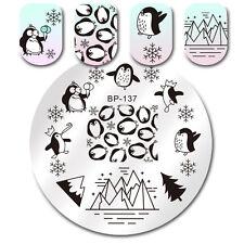 BORN PRETTY Nail Art Stamp Image Plate Stencil Snowflake Design Manicure BP-137