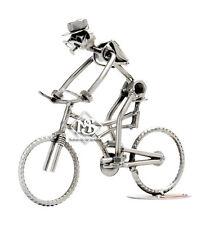 Hinz&Kunst Original,Mountainbike,Radfahrer,Schraubenmännchen aus Stahl,handmade