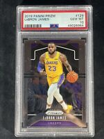 PSA 10 2019-20 PANINI PRIZM 129 LEBRON JAMES prizm base Gem Mint