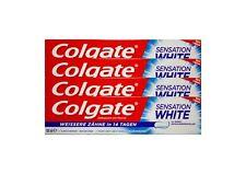 4x 100ml Colgate Sensation White mit Fluorid Zahncreme Zahnpasta Toothpaste NEU