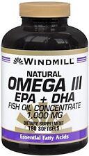 Windmill Natural Vitamins Omega-3 1000mg with EPA & DHA 180 Softgels