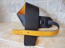 "Guitar Bass Strap 4"" Wide USA Made Italia Leather Straps"
