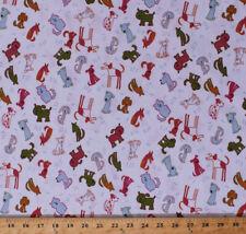 """58"""" Knit Dogs Bones Lightweight 4-Way Stretch Children's T-shirt Fabric D343.17"""