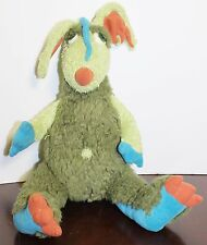 "Manhattan Toys Dragon Plush Green Blue Trilby 13"" Tall Soft Cuddly 101810CB"