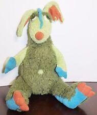 "Manhattan Toys Dragon Plush Green Blue Trilby 13"" Tall Soft Cuddly 101810CB"