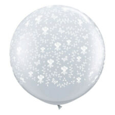 "Qualatex 16"" Flowers around Diamond Clear Latex Balloons -B2"