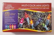 Holiday Time 450 Ct. Mini Lights (Three Sets of 150 Lights), Multi-Color