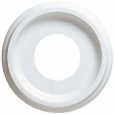 White Finish 9-3/4-Inch Smooth Molded Plastic Ceiling Medallion