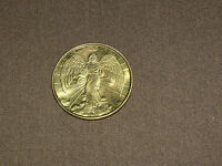 VINTAGE  CHRISTIAN GOLD COLORED RELIGIOUS ANGEL WINGS HALO COIN MEDAL