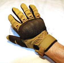 Valken Zulu Tan Tactical Full Finger Paintball Airsoft Gloves X-Large Xl New