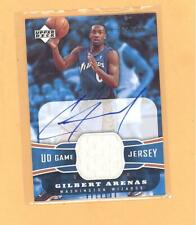 New listing GILBERT ARENAS 2004 UPPER DECK AUTO AUTOGRAPH JEARSEY RC #D 033/100 WIZARDS