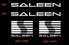Saleen Decal (Set of 4) WHITE DIE CUT Sticker, Vinyl - Ford Mustang Cobra Focus